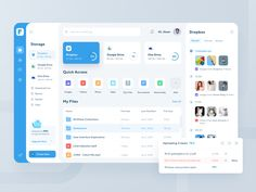 File Manager Dashboard designed by ilham yoga for Omnicreativora. Connect with them on Dribbble; the global community for designers and creative professionals. Dashboard Design, Ui Ux Design, Layout Design, Dashboard Interface, Web Dashboard, Minimal Web Design, Ui Web, Web Layout, Interface Design