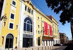 Teatro Municipal São Luiz, Lisboa, Portugal Lisbon Portugal, Old World Charm, Cinema, Street View, Culture, Landscape, Country, City, Image