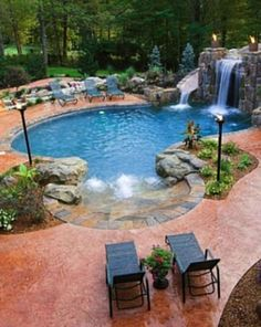 52 Best Swimming Pool Ideas For Your Backyard Design > Fieltro.Net pool ideas best swimming pool ideas for your backyard design 26 > Fieltro. Swimming Pool Landscaping, Luxury Swimming Pools, Luxury Pools, Dream Pools, Swimming Pools Backyard, Swimming Pool Designs, Backyard Landscaping, Landscaping Ideas, Backyard With Pool