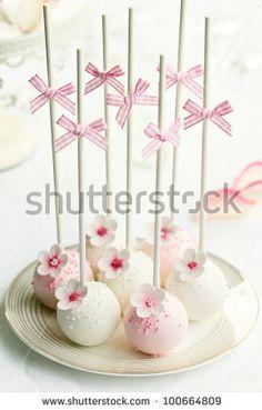 stock photo : Wedding cake pops