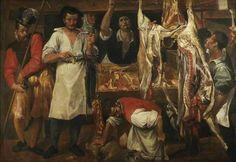 "Annibale Carracci - La bottega del macellaio (EN: ""The butcher's shop), 1585"