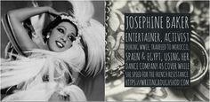 Josephine Baker #100travelHERS | by sandrakaybee #travel #paris #history #blackhistorymonth #women Several Movies, Civil Rights Activists, Josephine Baker, Civil Rights Movement, Dance Company, Women's History, Black History Month, Egypt