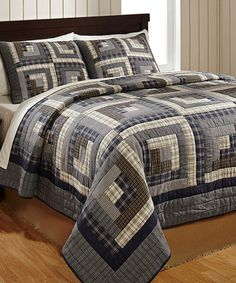 Look at this #zulilyfind! American Log Cabin Quilt Set by Bella Taylor #zulilyfinds