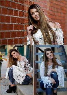 Brunette discovers Grapevine is a Great Place for Senior Pictures - Photographer Lisa McNiel