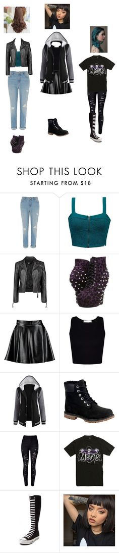"""""""Untitled #142"""" by pandashepherd ❤ liked on Polyvore featuring River Island, Element, Boohoo, Bettie Page, Timberland, WithChic, Converse and Pin Show"""