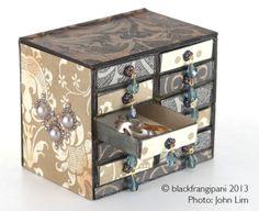 blackfrangipani miniature matchbox chest