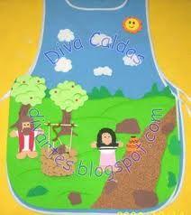avental a criação de eva - Pesquisa Google Felt Diy, Bible Lessons, Ideas Para, Apron, Clip Art, Baby Shower, Children, Crafts, Bible Crafts