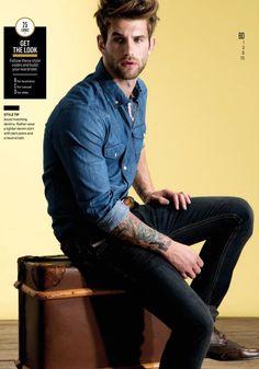 Denim shirt on Andre Hamann