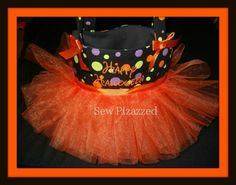Orange Halloween Tutu Tote Bag by SewPizazzed on Etsy,