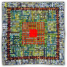 Eleanor McCain's work... very exciting to see the interaction of the red and green together!