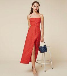 218e1140ce83 Reformation Manon Dress Linen Dresses