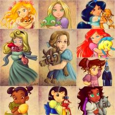 Disney AU where it was all just in the imaginations of little girls playing with their toys.