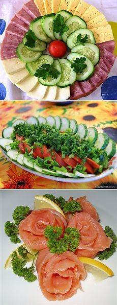 Ideas of cuttings. Simply and with taste // Татьяна Заика Holiday Appetizers, Appetizer Recipes, Vegetable Appetizers, Vegetable Carving, Food Carving, Food Garnishes, Cooking Recipes, Healthy Recipes, Food Challenge