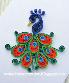 First try quilling a peacock. I enjoy quilling the feathers so I think I am going to quill another peaco. Quilling Images, Paper Quilling Cards, Paper Quilling Patterns, Quilled Paper Art, Paper Beads, Peacock Quilling, Quilling Craft, Peacock Art, Quilling Ideas