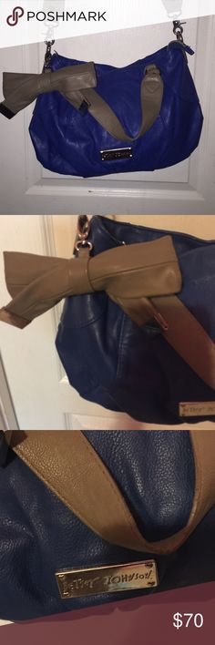 Blue and grey Betsy Johnson bag Awesome bag. Good condition. Strap is removable Betsey Johnson Bags Crossbody Bags