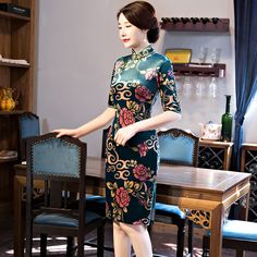 chinese clothing short cheongsam dresses            https://www.ichinesedress.com/