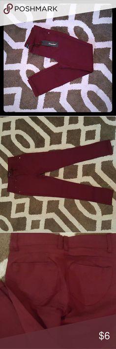 Girls size 12 shinestar burgundy jeggings Shinestar burgundy jeggings shinestar Bottoms Leggings
