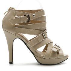 Ollio Womens Pumps Platforms Gladiator Ankle Straps High Heels Sandal Shoes
