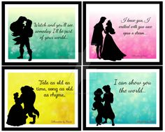 Disney Couples Love Quotes by SilhouettesbyMarie.deviantart.com on @DeviantArt