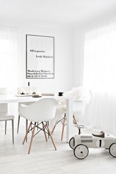 Catherine Lovatt & Pascale Naessens Ceramics and Food + Design Book from Serax Belgium   Sheepskin Rug from Milabert   Eames Chairs from Cult Furniture