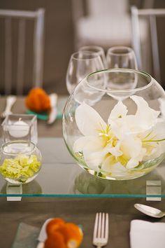 45 Best Fishbowl Wedding Centerpieces Images Flower Arrangements