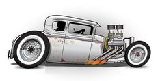 Weird Cars, Cool Cars, Cars Coloring Pages, Car Illustration, Illustrations, Garage Art, Car Posters, Car Drawings, Automotive Art