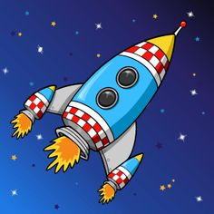 Cute rocket to draw for Isaac's future bedroom