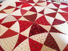 Winding+Ways+Quilt+Block | The blocks with white backgrounds and red crosses had this resulting ...