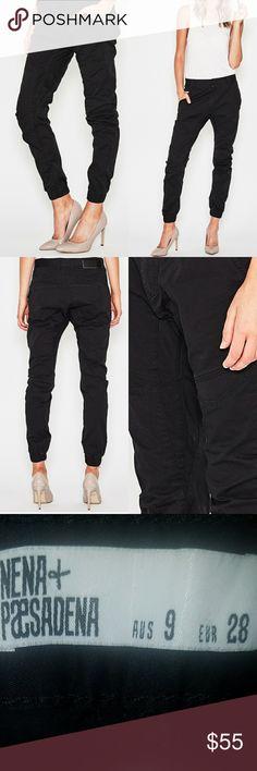 NWT SIZE 28 NENA & PASADENA WOMEN'S FLIGHT PANTS SIZE 28/9 Drop crotch chino  Fitted waist band Tapered elastic cuffs Cotton blend nena and pasadena Pants