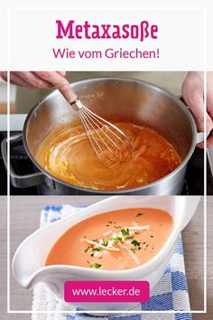 So geklingt dir Metaxasauce wie vom Griechen! Perfekt zu Gyros und Co. That's how Metaxasauce sounded like the Greek! Perfect for Gyros and Co. Easy Bread Recipes, Sauce Recipes, Crockpot Recipes, Cooking Recipes, Greek Recipes, Italian Recipes, Best Lentil Soup Recipe, Vegetable Drinks, Healthy Eating Tips