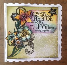 Zoe and her daughter This month we are joined by Zoe Russell as our Featured Guest Artist About Zoe Zoe is 52 and married to Steve. Anniversary Crafts, Sheena Douglass, Frantic Stamper, Crafty Projects, Card Tags, Altered Art, Zoe Zoe, Card Making, Paper Crafts