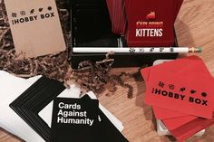 Need a new hobby? Subscription Gifts, New Hobbies, Gift Baskets, Cards Against Humanity, Box, Sympathy Gift Baskets, Snare Drum, Food Gift Baskets, Gift Basket