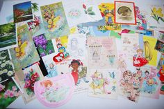 Vintage Greeting Cards Babies to Grown by CheekyVintageCloset, $14.50