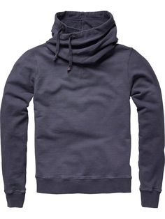 Twisted hooded sweater - blue ray