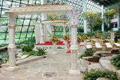 Westin Southfield Detroit- Southfield Town Center Atrium Wedding Mandap Ceremony