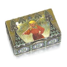 A Fabergé silver and enamel box, workmaster Feodor Rückert, Moscow, 1908-1917.