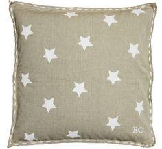 Cushion 50x50 Natural w. White Stars