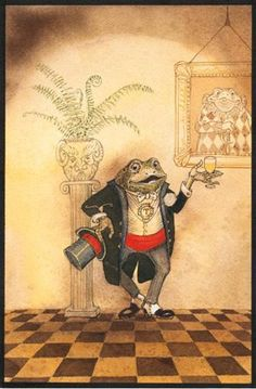 The Wind in the Willows - Mr. Toad's Toast by Charles van Sandwyk