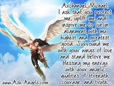 """You don't need a formal prayer or invocation to align with the help of Archangel Michael, you can simply think or say… ""Archangel Michael connect with me now"" or ""Archangel Michael protect me now""…  I have however been guided to offer this Archangel Michael prayer for those who would like a little more guidance in making the link with Archangel Michael.  Access the full length prayer here:...""  #archangel #michael #protection……"