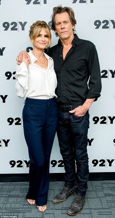 Devoted: On Wednesday night, Kevin Bacon and Kyra Sedgwick, who've been married for 29 years, put on a loving display as they stepped out for an event at the Street Y in NYC Kyra Sedgwick, Kevin Bacon, Celebrity Couples, Celebrity Weddings, Diy Beauty Care, Star Family, Brooklyn Nine Nine, Its A Mans World, Actor