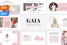 Ad: Gaia Presentation Template by SlideStation on Gaia is an elegant, simple and impressive presentation template for both PowerPoint and Keynote. It is prepared with a strong fashion theme Powerpoint Presentation Slides, Business Presentation, Presentation Design, Presentation Templates, Indesign Templates, Keynote Template, Social Media Template, Social Media Design, Gaia