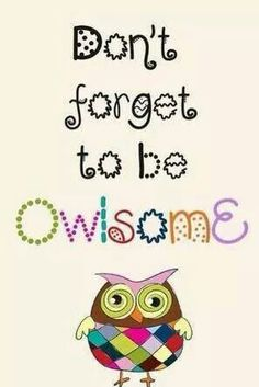 Cute owl sign!