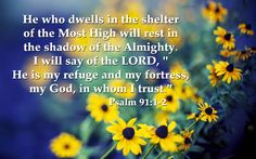 He is my refuge and my fortress - Psalm Bible Verse Images 7 ...
