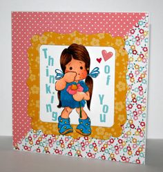 Adorable handmade Thinking of You card with Tilda by rbowen