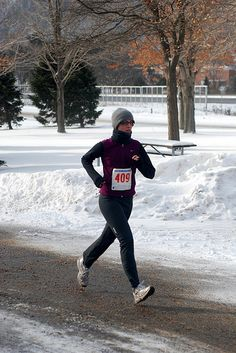 tips on running in the winter, as well as books related to running
