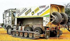 """Italian ingenuity at Dakar 1985-Astra BM 309 present with 2 TRUCKS 6 x6 """"tracked"""" brought by crews-Casiraghi-Arcangioli (retired) and carnival-Box-Box (15° Position). Beautiful means it would be nice to see the opera. (Photos and info from the web and from the site website)"""