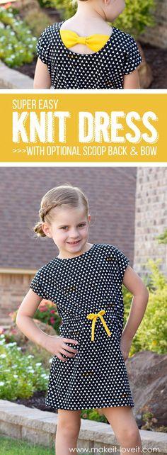 Super Easy Knit Dress tutorial from Make It-Love It