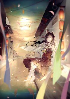 「神社の巫女さん」/「Pudding」のイラスト [pixiv]