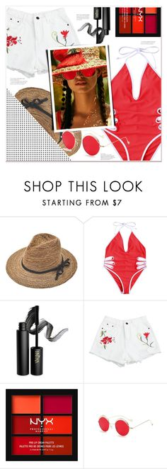 """""""summer fun"""" by mycherryblossom ❤ liked on Polyvore featuring INIKA and NYX"""