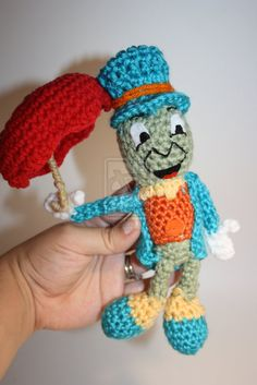 Crochet Jiminy Cricket Plush by DunnWithLove on DeviantArt